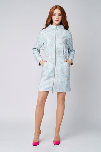 Jacquard blue dress Ganveri Blue