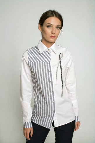 Striped shirt Ganveri White