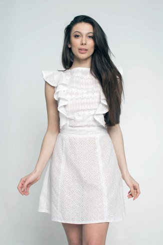 Eyelet dress Ganveri White
