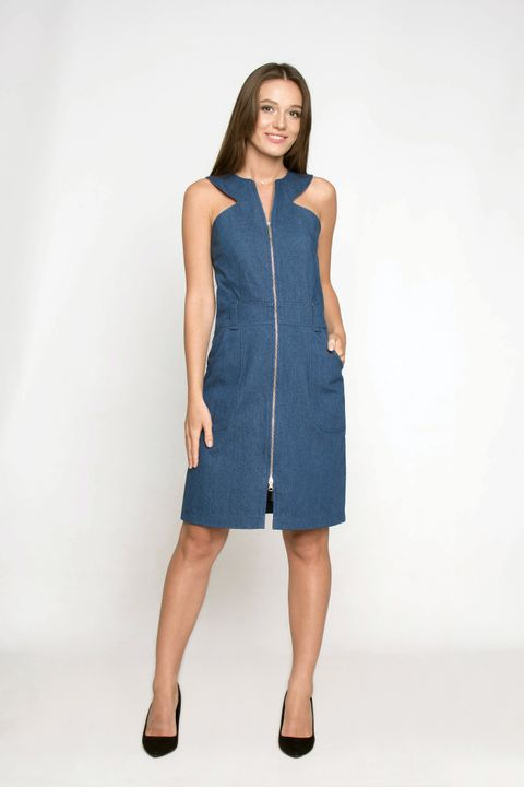 Denim dress Ganveri dark blue